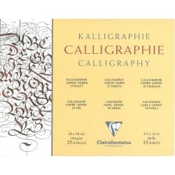Bloc Calligraphie ivoire...