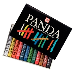 Pastels à l'huile Panda en set