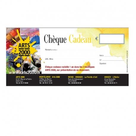 Chèque cadeaux Arts 2000
